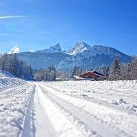 Langlauf Loipe in Schönau am königssee