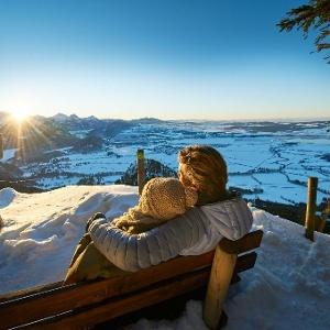 Ausblick über die Winterlandschaft