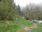 Foto Der Wanderweg beginnt gleich hinter dem Wanderquartier der Ostrauer Mühle