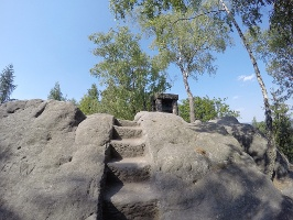 Foto Die letzten Meter auf den Gipfel der Hohen Liebe