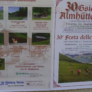 Flyer Almhüttenfest