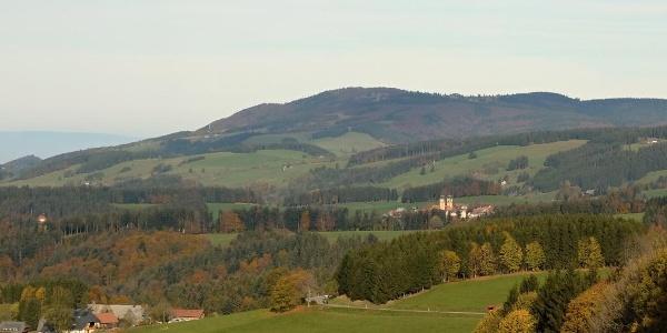 Blick vom Thurner auf St. Märgen