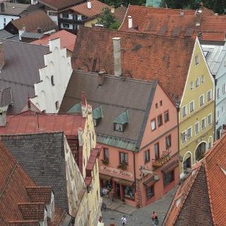 Blick auf die Innenstadt von Füssen