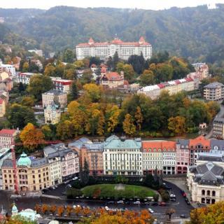 Blick über Karlovy Vary