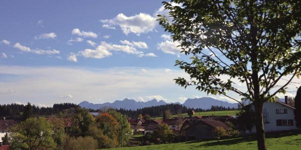 Unterwegs auf der Oberdorfer Radlrunde bei Leuterschach