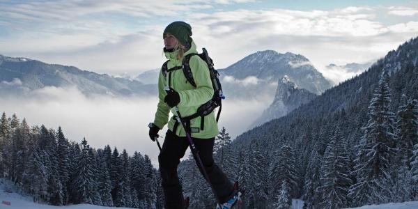 Skitour - Am Zahn über Kolbensattelhütte - kurz vor der Hütte