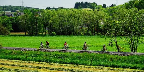 Radeln auf der Bahntrasse