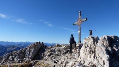 Am Ziel des 2194 m hohen Guffert.