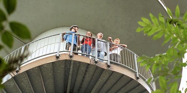 Ganz schön hoch: Auf dem Aussichtsturm Steinegge