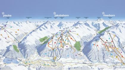 Panoramakarte Pischa-Jakobshorn-Rinerhorn