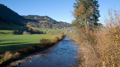 Blick von der Laaderbrücke auf die Thur