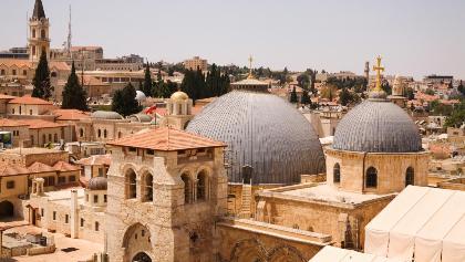 Die Grabeskirche in der Altstadt Jerusalems