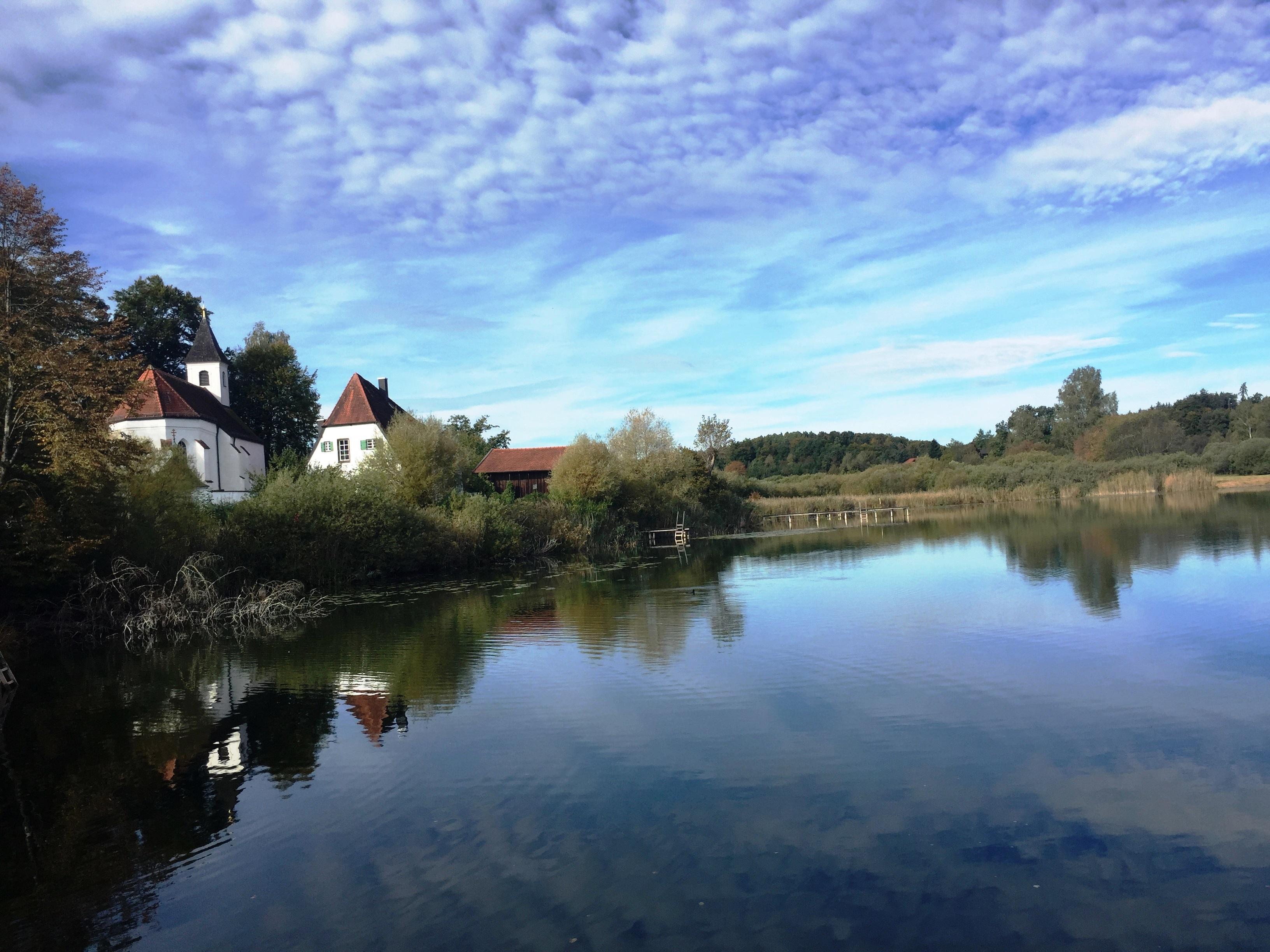 Blick auf das Kloster Seeon