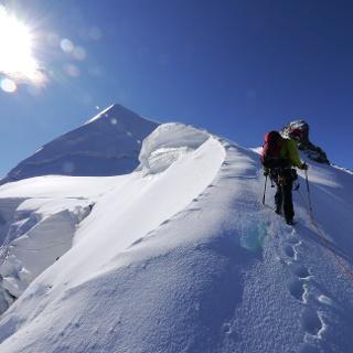 Auf dem Weg zur Schneekuppe