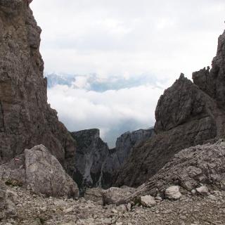 Vista dalla Forca dell'Alpino verso Sappada