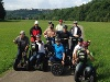 Gruppenfoto eines Segway-Ausflugs mit Blick auf Langenburg  - @ Autor: Beate Philipp  - © Quelle: SEG-EVENT-MARKETING GbR