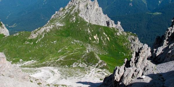 Sella Franza e M.Franza visti dal Passo del Mulo