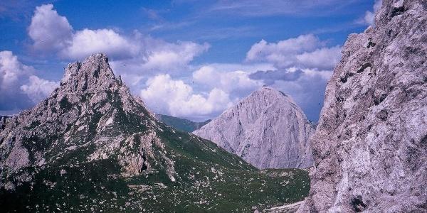 Forcella Franza e in secondo piano il maestoso monte Peralba