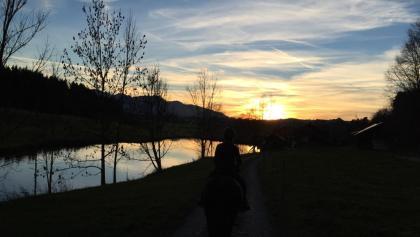 Sonnenuntergang am Widdumer Weiher