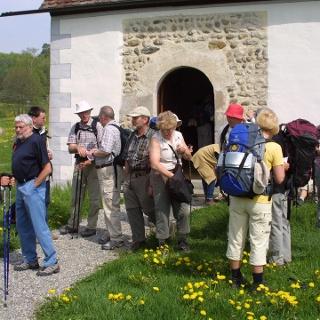 Pilgergruppen auf dem Jakobuswe