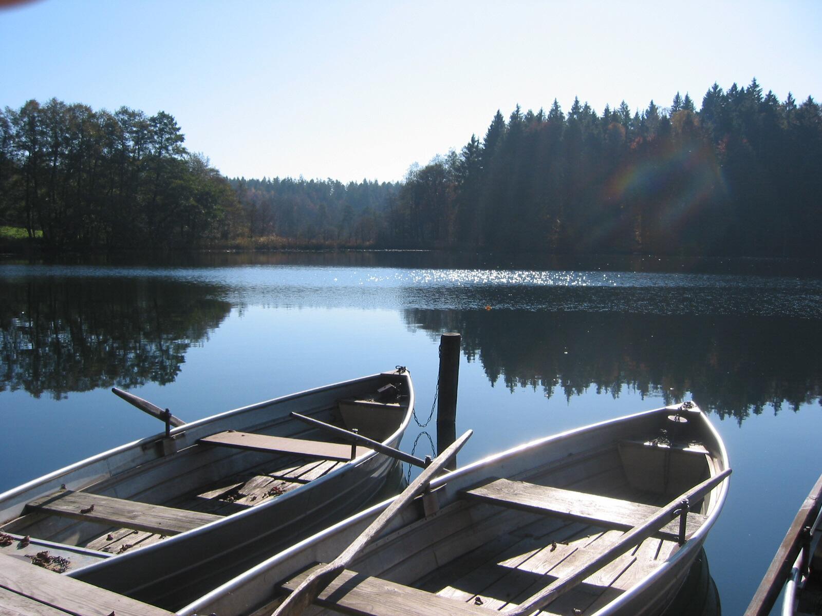 Blick auf den Langbürgner See