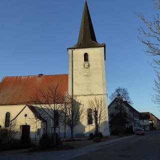 Auf den Kirchendächern lassen sich die Störche und ihre Nester gut beobachten