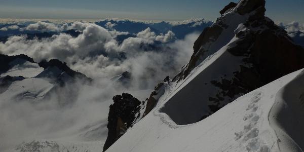 die Querung im Schnee/Eis und das Col du Diable