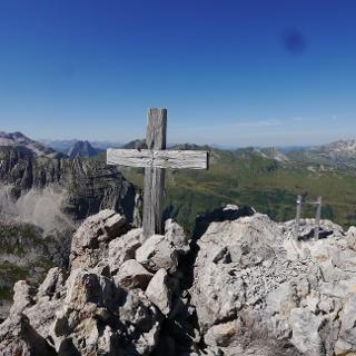 Auf dem Gipfel der Madonna