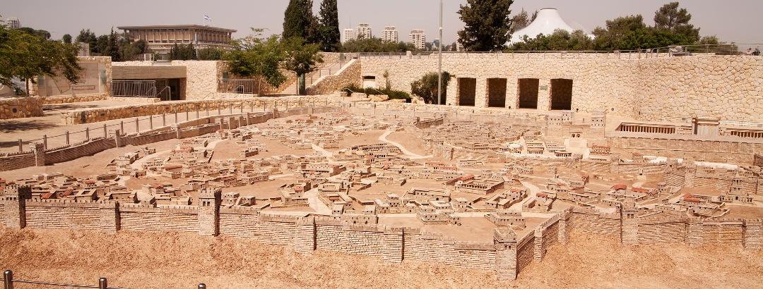 Ein Modell von Jerusalem im Israel Museum
