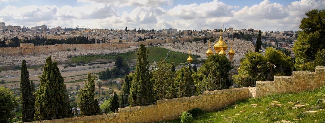 מבט על העיר העתיקה של ירושלים מהר הזיתים