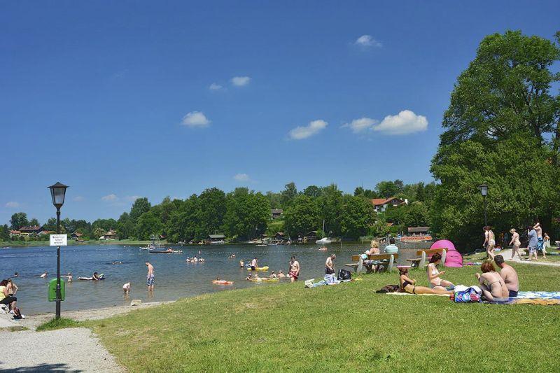 Wanderung - Königsweg in Murnau am Staffelsee - Strandbad am Staffelsee