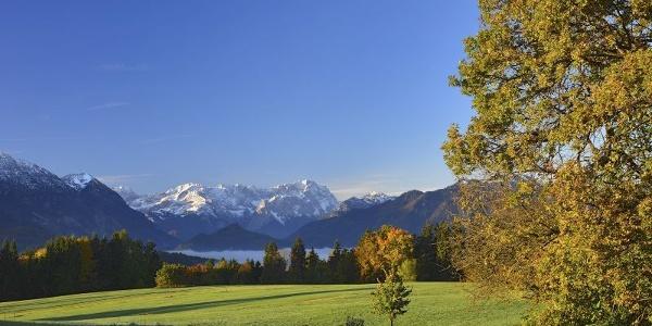 Wanderung - Guglhör-Rundweg - Blick Richtung Zugspitze