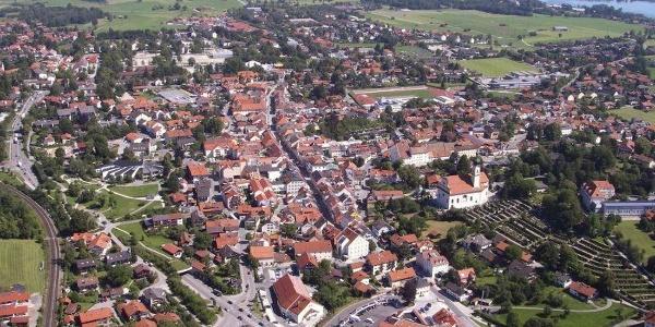Wanderung - Guglhör-Rundweg - Murnau aus der Luft