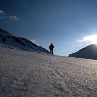 sci di escursione Rossa (Calanca) - Piz Giümela