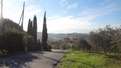 kurz vor San Gimignano