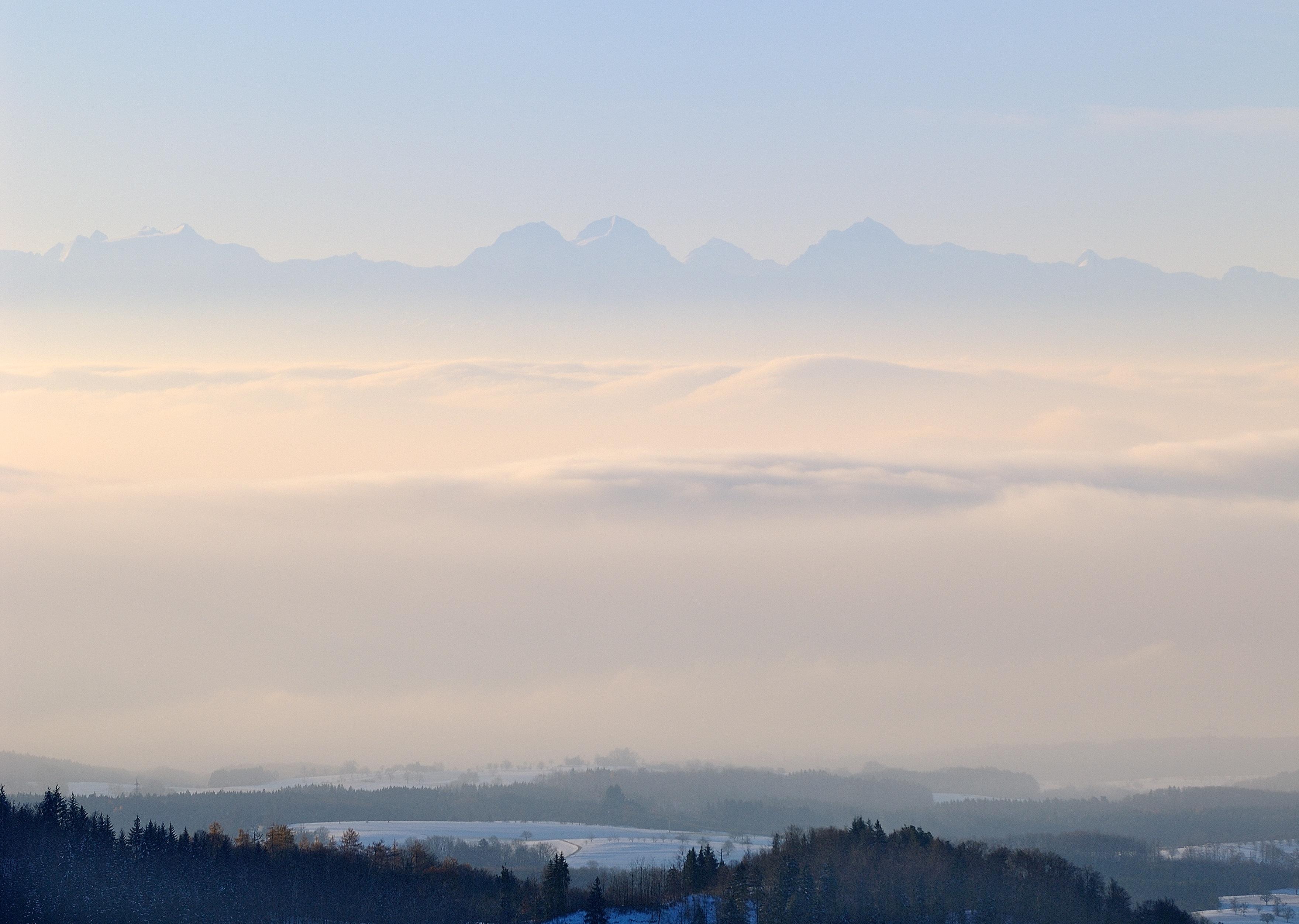 Dinkelberg Alpennebel und Schnee