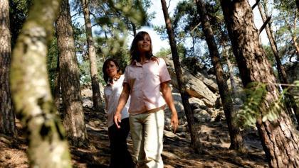 Wanderer an den Dörenther Klippen