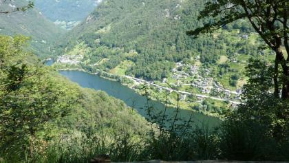 Blick auf den Lago di Vogorno (Verzasca-Stausee)