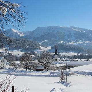 Lingenau im Winter