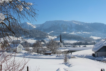 Lingenau im Winter