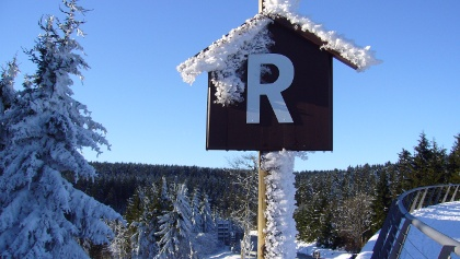 Rennsteig in Oberhof mit dem Rondell
