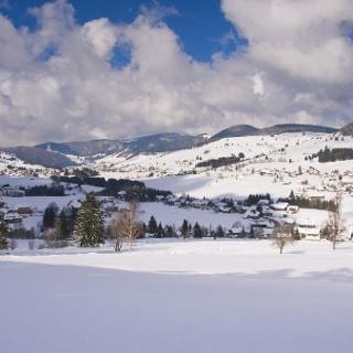 Blick über das winterliche Bernauer Hochtal. Foto: Michael Arndt