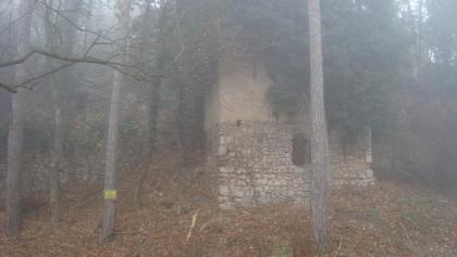 und endlich die Ruine - im Nebel