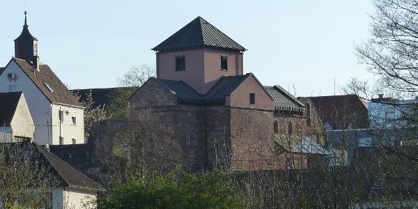 Blick auf das Kloster Hornbach