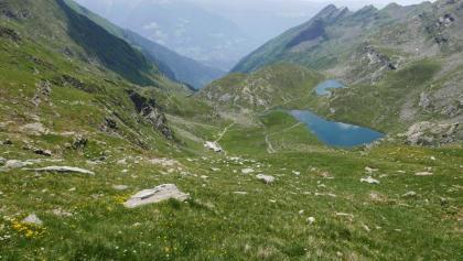 Kaser- und Pfitscher Lacke, links die Oberkaser Hütte