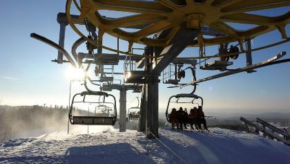 Skifahren im Skigebiet Schöneck