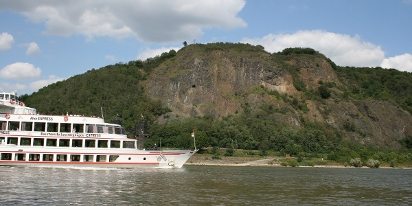KD-Schiff unterhalb der Erpeler Ley