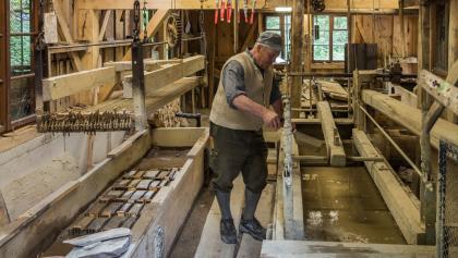 Themenweg - Schleifmühlklamm - in der Wetzsteinmühle