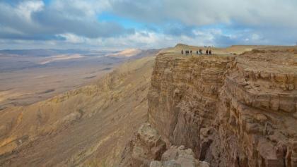 Markante Felsformationen im Negev
