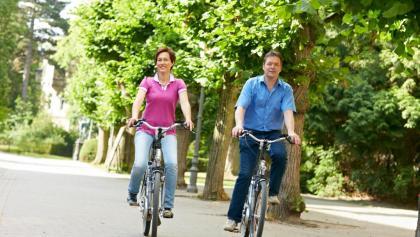 Radfahren im Schlosspark in Bückeburg